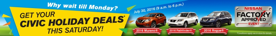 Bolton Nissan Civic Holiday Specials
