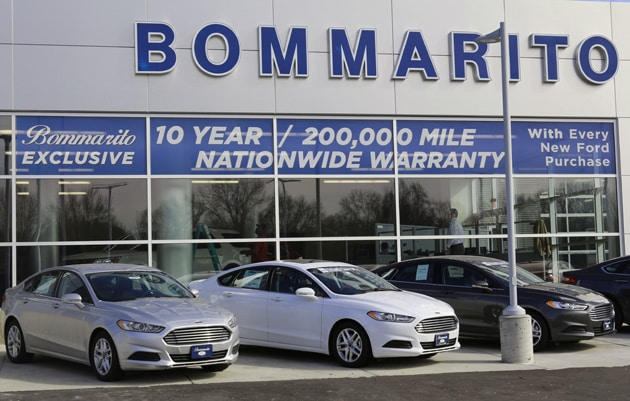 Exterior photo of the Bommarito Ford dealership in Hazelwood, MO.