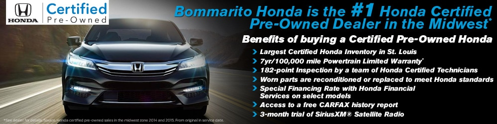 Certified Pre-Owned Honda Inventory at Bommarito Honda