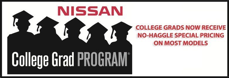 Special, no-haggle pricing available at Bommarito Nissan of Ballwin for recent college grads.