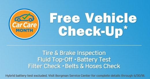 Car Care Month: Free Vehicle Check-Up at Borgman