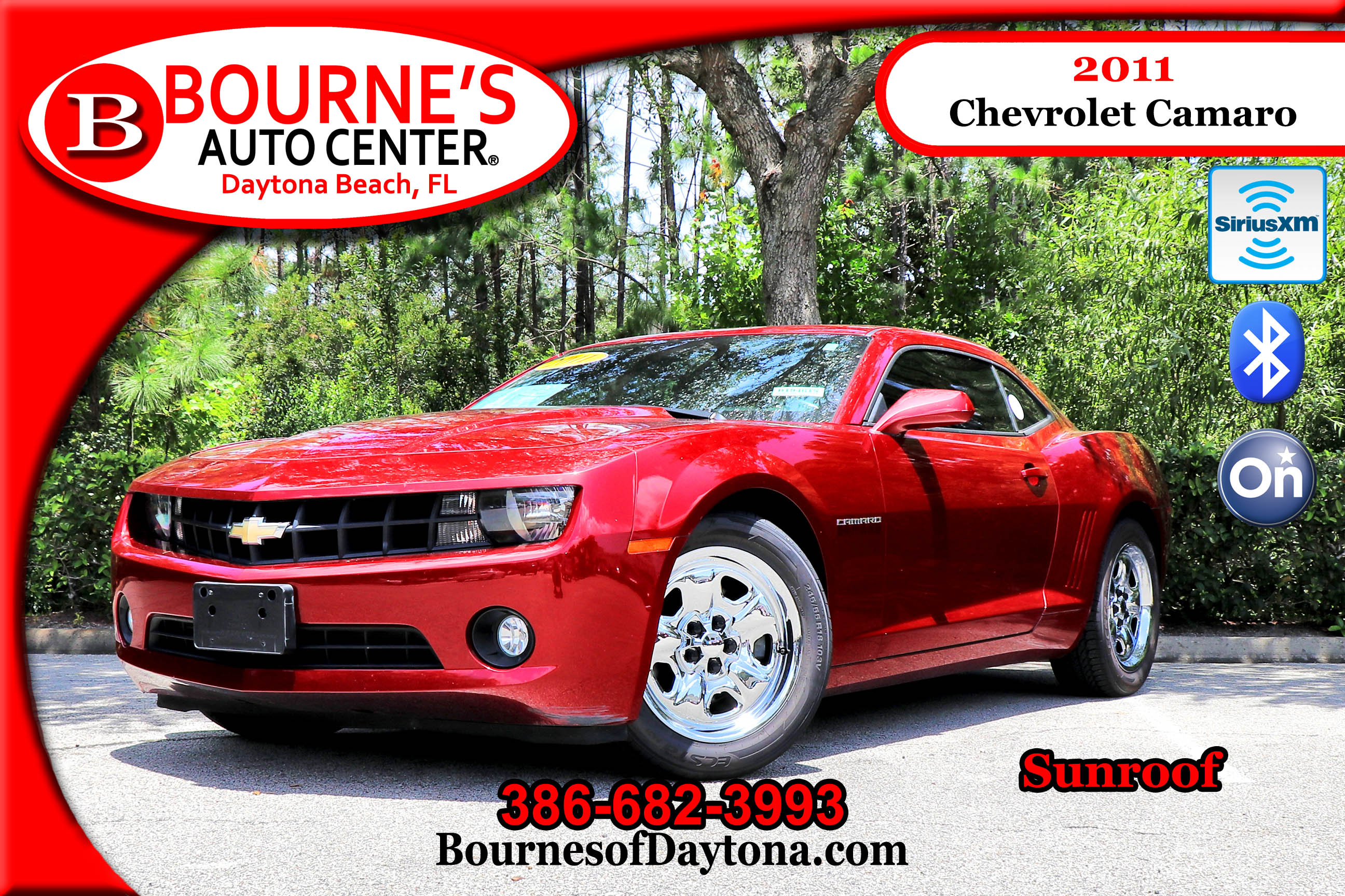 2011 Chevrolet Camaro OnStar/ Sunroof/ XM Coupe