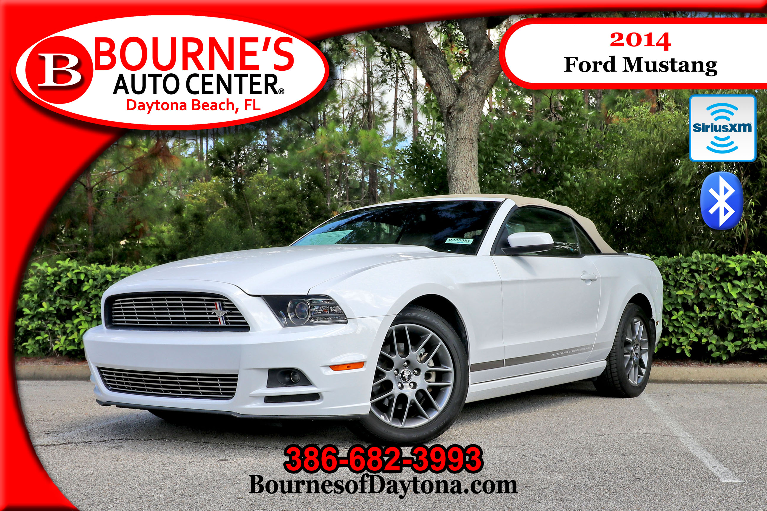 2014 Ford Mustang Xm/ Bluetooth/ Leather Soft Top Convertible