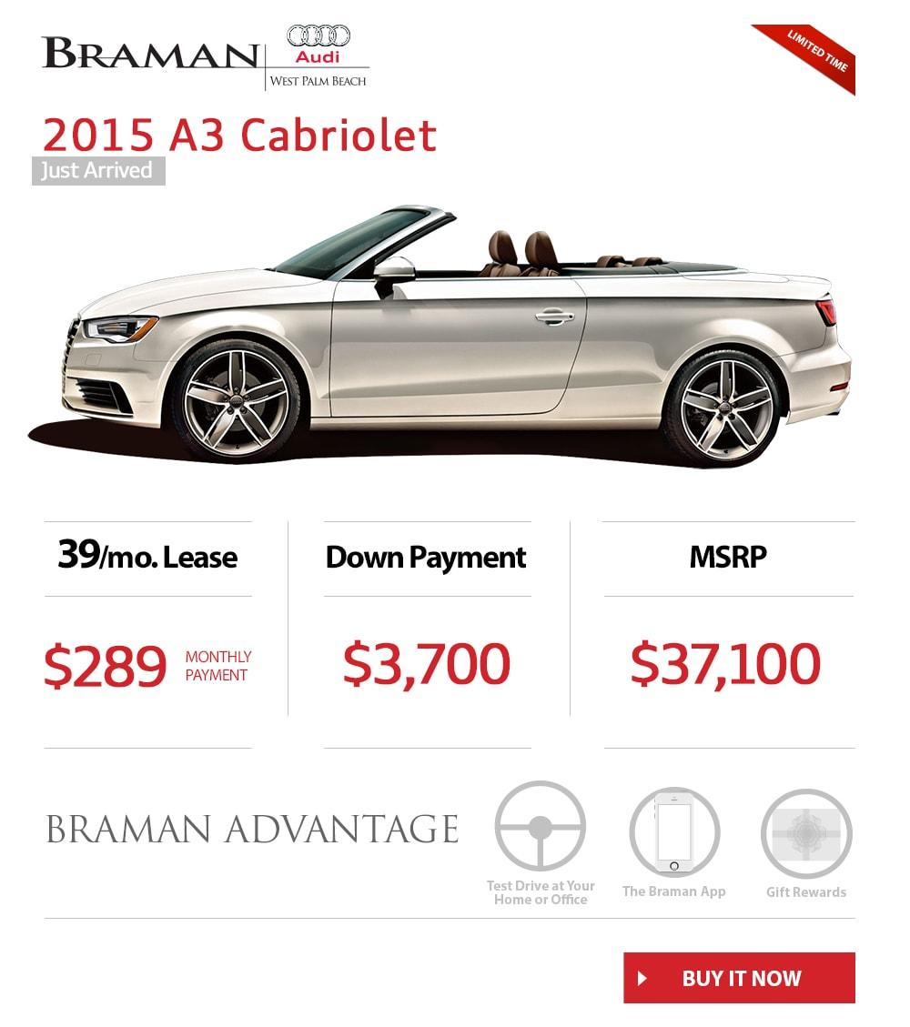 2015 Audi A3 Convertible Specials