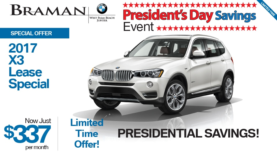 Bmw X3 Special Offer Braman Bmw West Palm Beach Fl 33409
