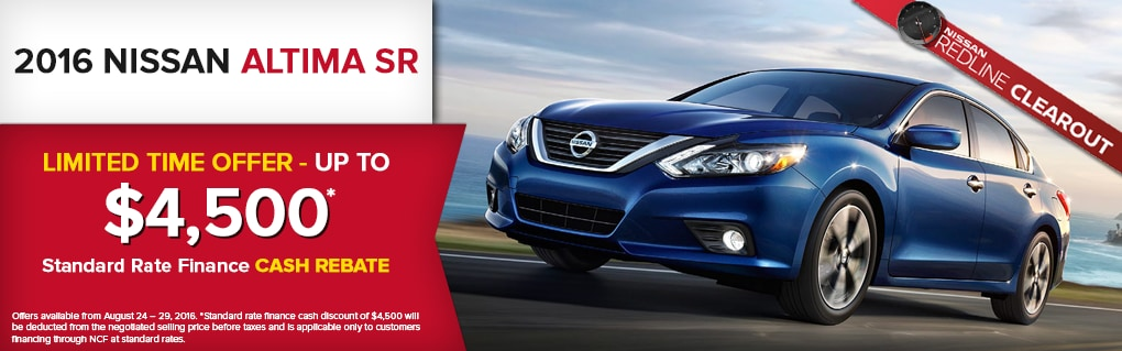 Limited Time Offer on the Altima SR. Click for Inventory