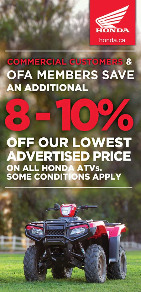 2016 Honda Commercial Customer ATV Discounts