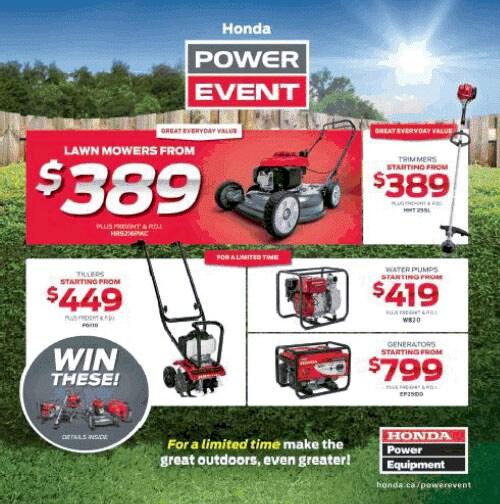 Honda Power Equipment Sales Event