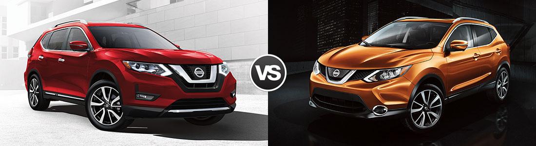 2017 Nissan Rogue vs Nissan Rogue Sport