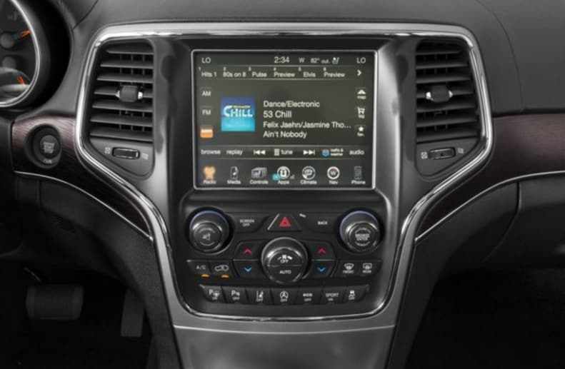 2017 Jeep Grand Cherokee Dashboard