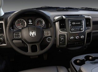 Interior of the 2017 RAM 4500 Chassis Cab