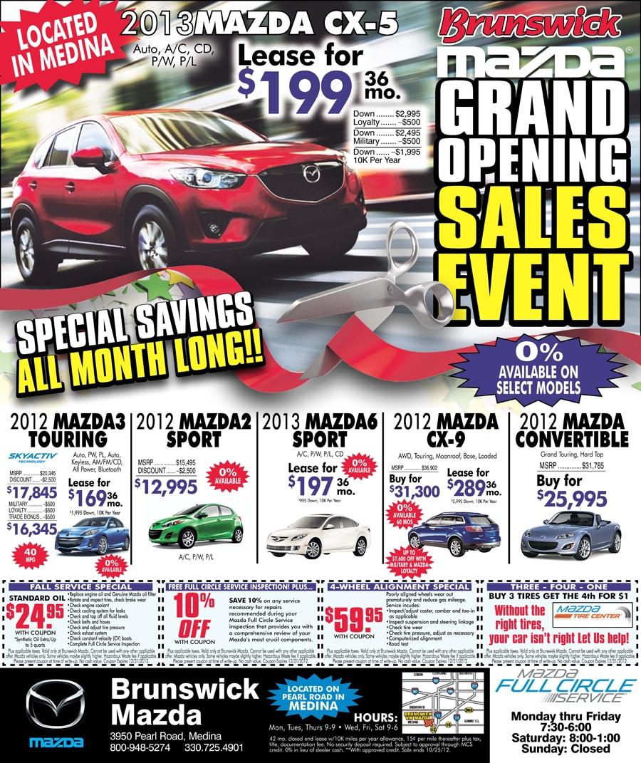 Mazda Grand Opening Brunswick Auto Mart