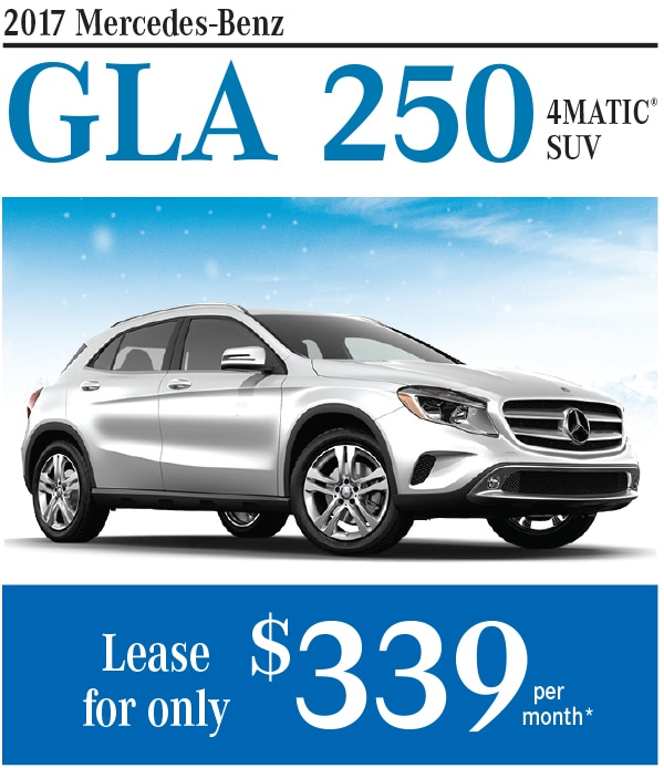 New mercedes benz gla250 lease or finance special at bud for Mercedes benz lease incentives