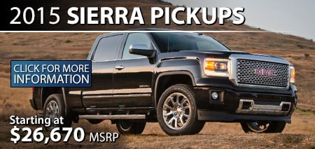Learn More About the 2015 GMC Sierra at Burdick GMC