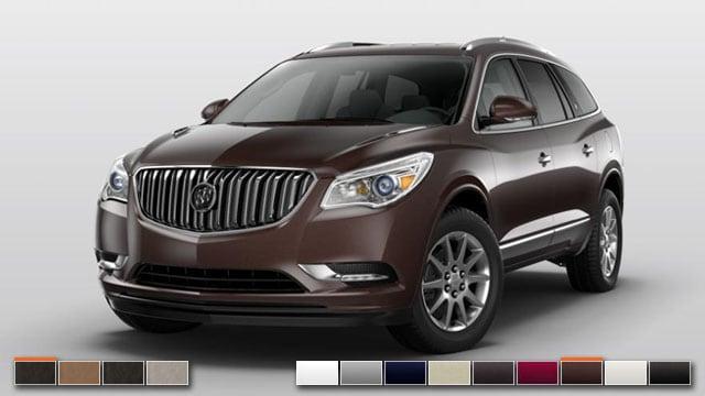 2016 Buick Enclave Color Options Burdick Chevrolet Buick Gmc