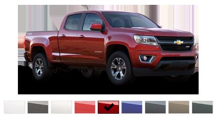 2016 Chevrolet Colorado Color Options Burdick Chevrolet