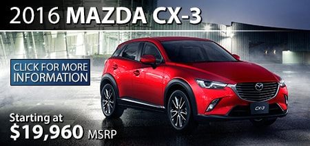 Learn More About the 2016 Mazda CX-3 at Burdick Mazda