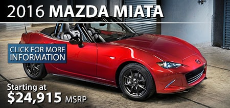 Learn More About the 2015 Mazda MX-5 Miata at Burdick Mazda