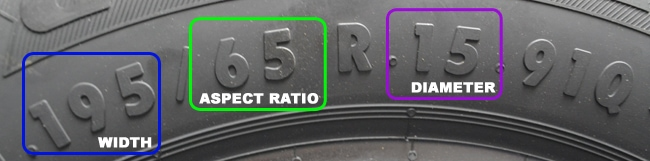how to tell what size tire is