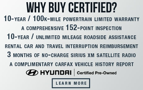 Why Buy Hyundai Certified Pre-Owned