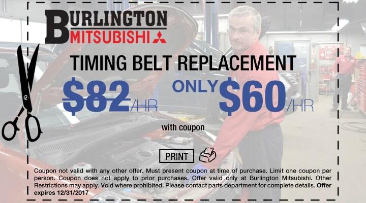Mitsubishi Timing Belt Replacement Coupon