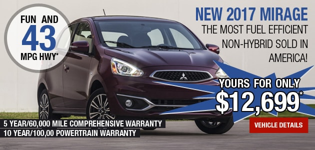 New 2017 Mitsubishi Mirage Managers Special