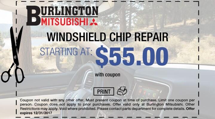 Mitsubishi Windshield Repair Coupon