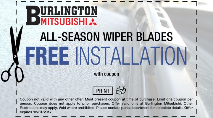 Wiper Blade Installation Coupon