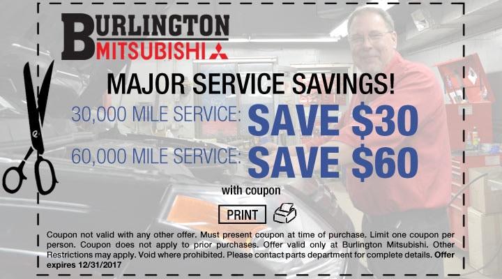 Mitsubishi Major Service Coupon