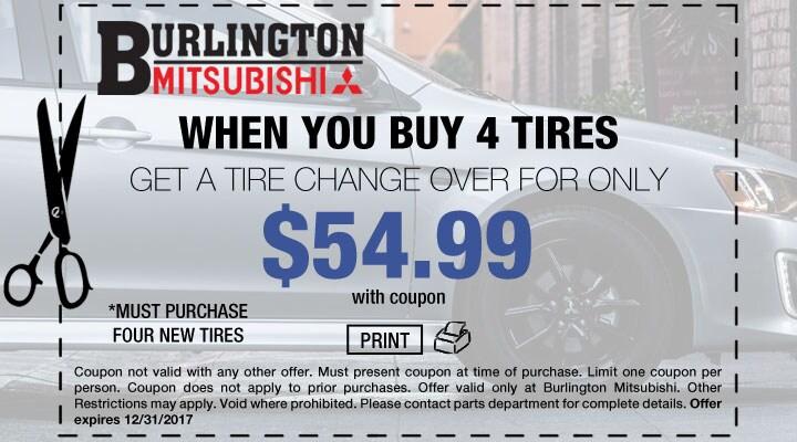 Mitsubishi Tire Change Over Service Coupon