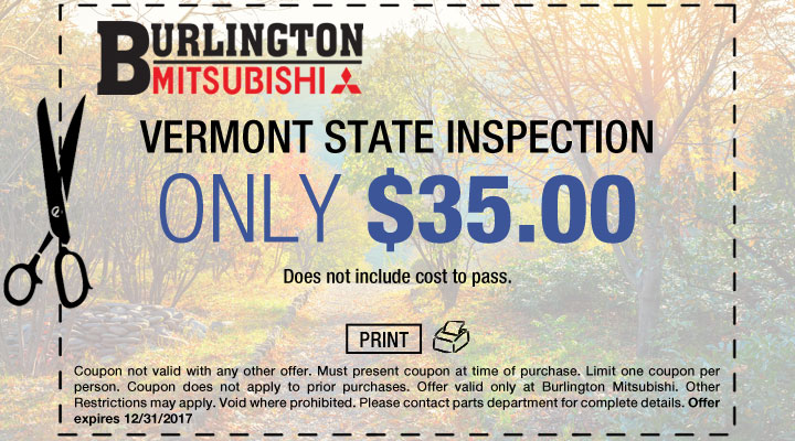 Vermont State Inspection Coupon