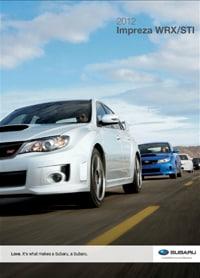 2012 Subaru Impreza WRX STI Digital Brochure