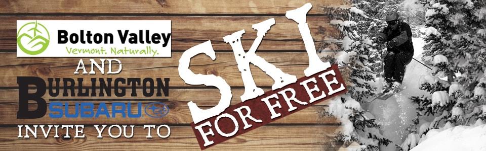 Ski for Free with Burlington Subaru