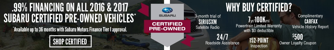 Subaru Certified Pre-Owned Deal
