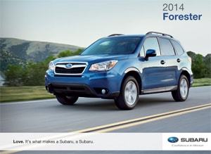 2014 Subaru Forester Color Options