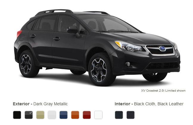 subaru xv crosstrek colors dark gray metallic