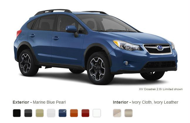subaru xv crosstrek colors marine blue pearl