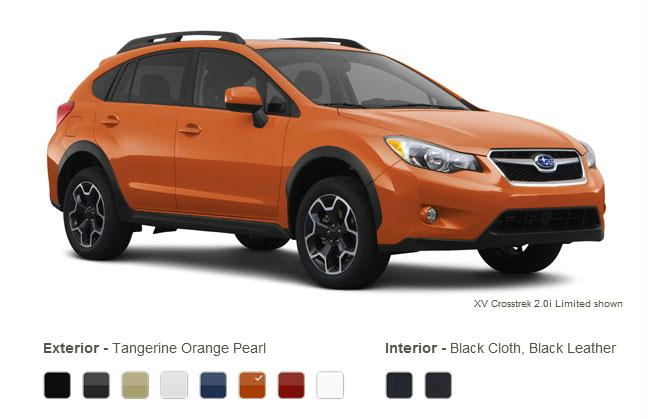 subaru xv crosstrek colors tangerine orange pearl