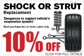 Shock or Strut Replacement | Camelback VW in Arizona