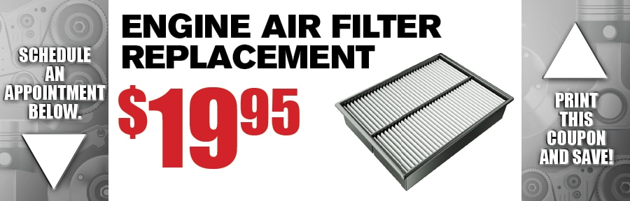 Engine Air Filter Replacement Auto Service Coupon Phoenix