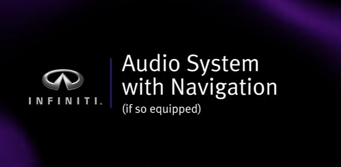 INFINITI Audio System Tutorial