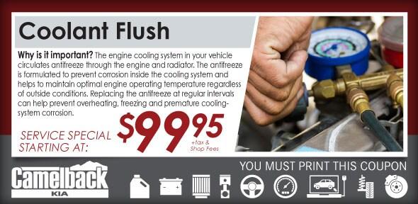 Coolant Flush Auto Service Coupon Phoenx Kia Service Special