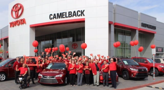Camelback Toyota American Heart Association donate