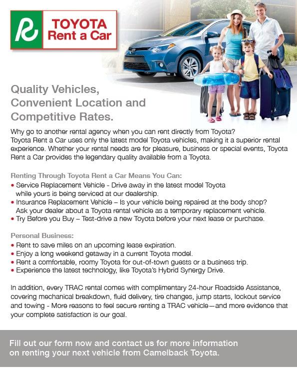 Toyota Rent A Car Phoenix Auto Service Center Car