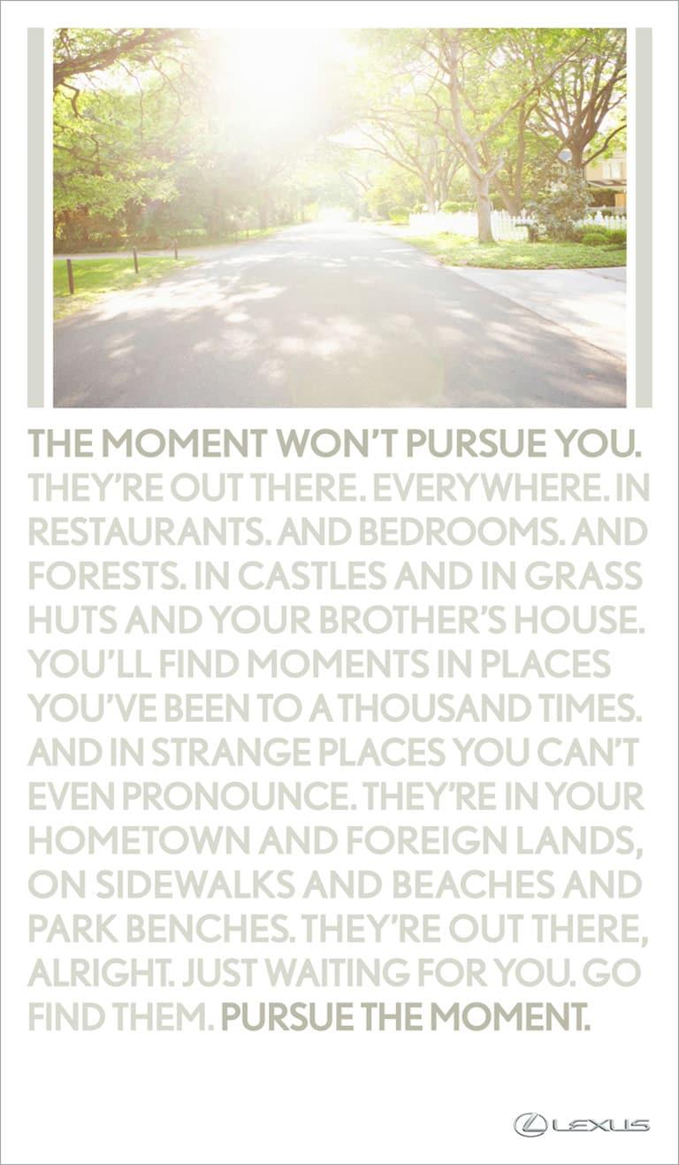 Lexus Pursue the Moment