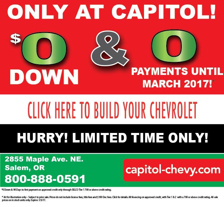 Salem Chevrolet: New Chevrolet Dealership In Salem, OR