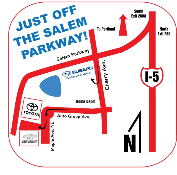 Directions To Capitol Toyota In Salem Or 97301 Serving Wilsonville
