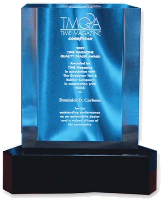 TIME Magazine Quality Dealer of the Year Award