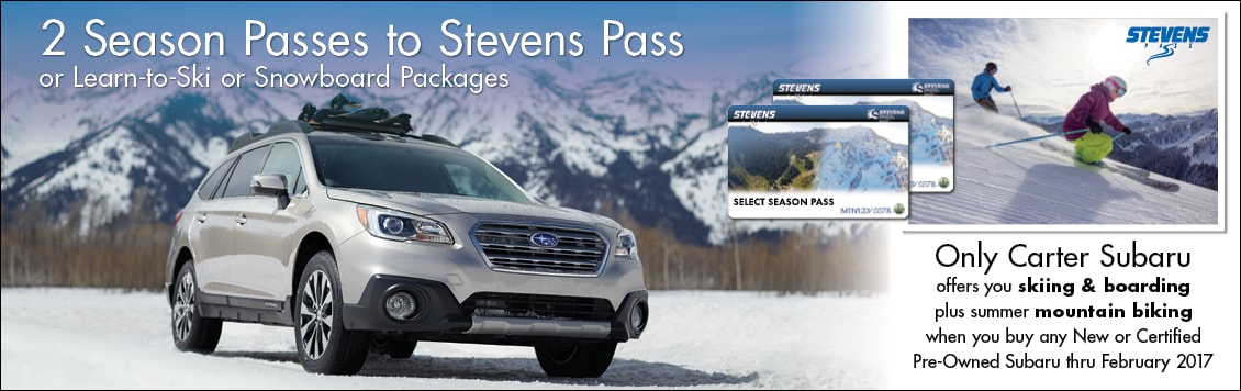 Season Tickets or Learn to Ski or Snowboard at Stevens Pass from Carter Subaru Ballard in Seattle, WA