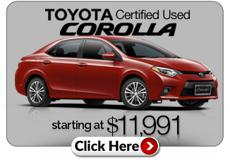 TCUV Corolla at Cavender Toyota